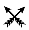 Shown left are the Arrows of Friendship. In Native American cultures ...