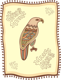 Symbolic Nagual Bird Lords of the Aztec Book of Days